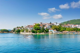 skiathos island saint town