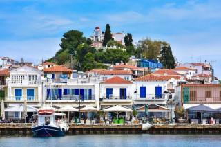 skiathos island saint town houses